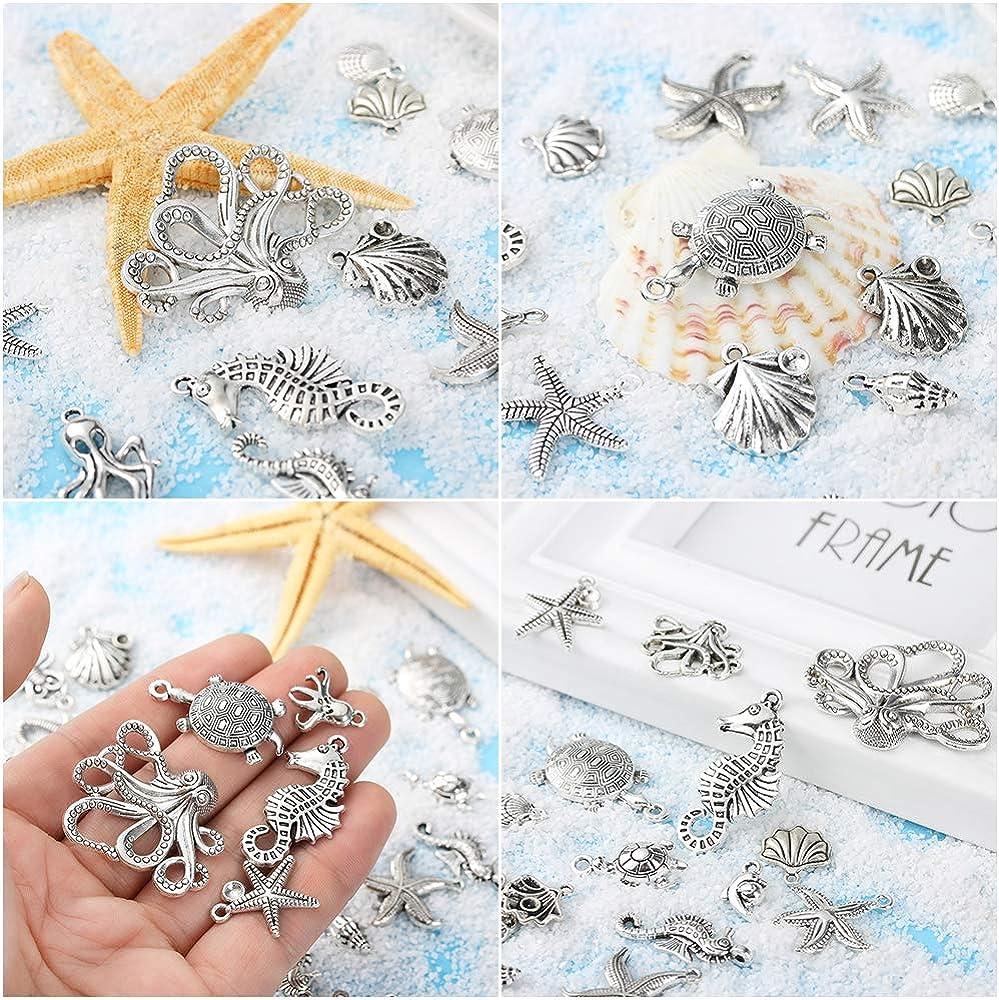 Dragonface Charm Ocean Pendants Beads Bulk Mixed Tibetan Silver Jewelry Findings Lots Handmade DIY Jewelry Decoration Accessories
