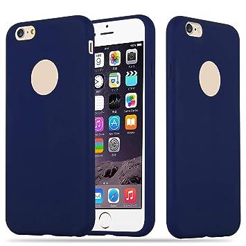 Cadorabo Funda para Apple iPhone 6 / iPhone 6S en Candy Azul Oscuro – Cubierta Proteccíon de Silicona TPU Delgada e Flexible con Antichoque – Gel Case ...