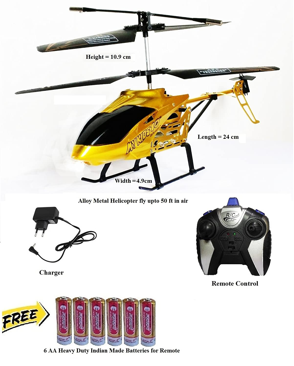 buy townhawk alloy metal remote control 3 channel kids helicopter
