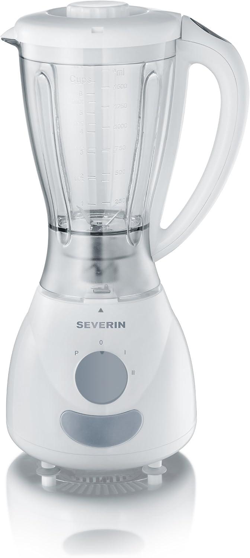 Severin SM 3719 Batidora de vaso, 400 W, 1.5 litros, 2 Velocidades, Blanco y gris: Amazon.es: Hogar
