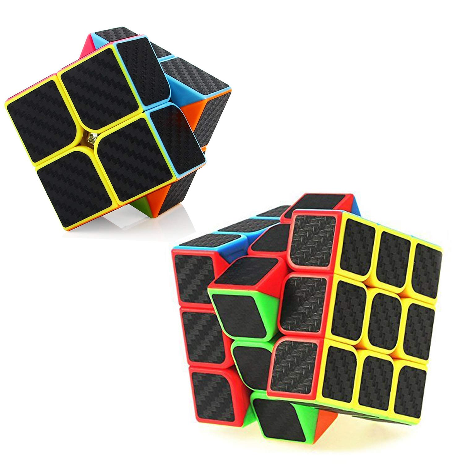 D.F.L Speed Cubes 3D Puzzles Magic Cube 3D Cube Set Rubix Cube Puzzle Cube Carbon Fiber Moyu Cube 2x2 3x3 Smooth Enhanced Version Gift for Kids and Adults by D.F.L (Image #1)