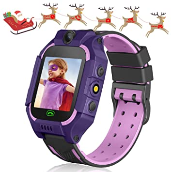 Leatalent Games for Children Smartwatch Touch Screen Smart Watch Phone 2-Way Call SOS Alarm Clock Games Camera for Children Girls Age 3-12 Holiday ...