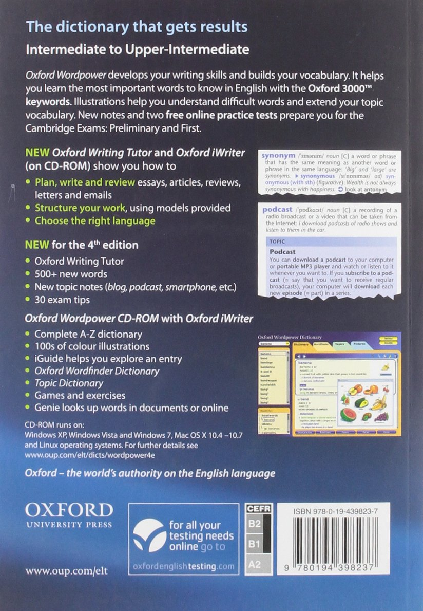 oxford wordpower dictionary  Oxford wordpower dictionary. Con CD-ROM: : Oxford ...