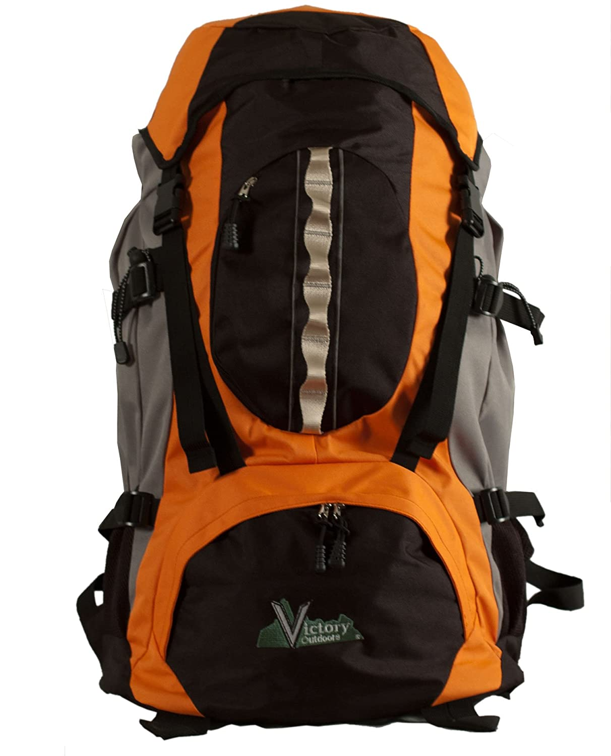 Orange Victory Outdoors Cross Country 60-Liter Backpack