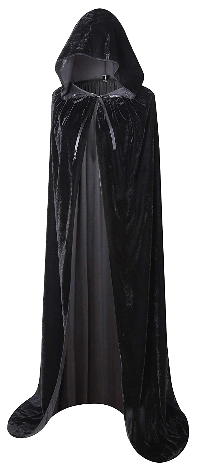 Txian Full Length con Cappuccio in Velluto Cape Halloween Christmas Fancy Cape con Costumi 59 '