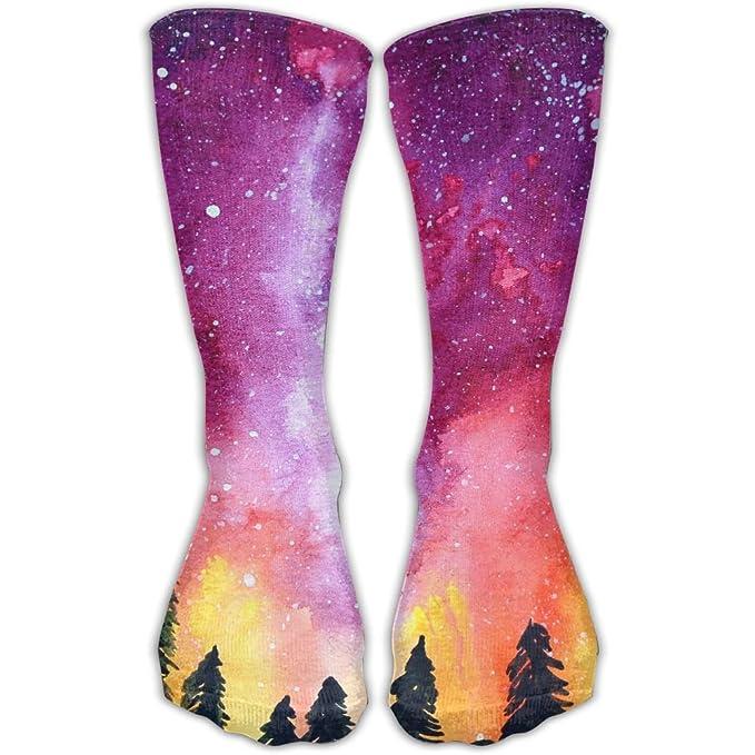 Amazoncom Men Women Pink Garaxy Premium Ankle High Socks Athletic