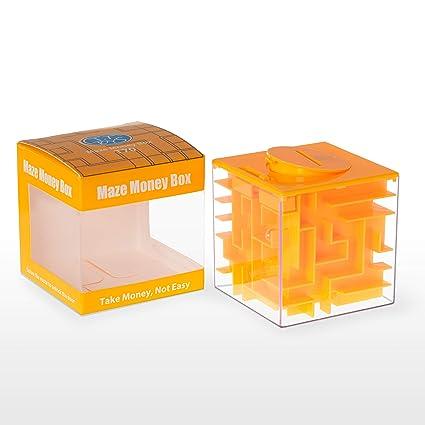 Elfesto Money Maze Puzzle Box 3d Maze Money Credit Card Gift Cube Piggy Bank Money Holder Saving Box Fun Challenging Game Brain Teaser For Kids