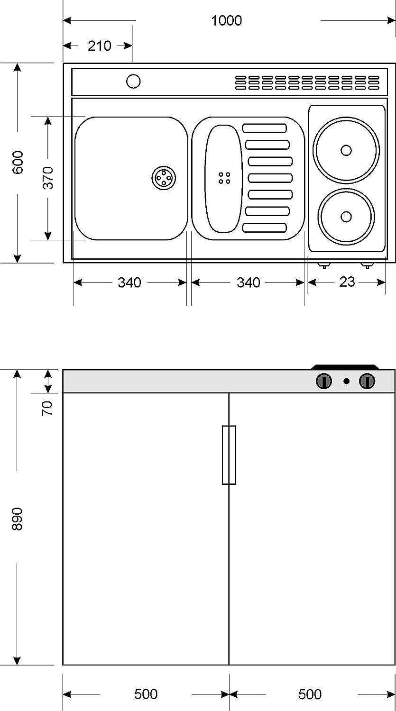 Kompaktküche Singleküche Mini-Küche Büroküche Kleinküche Teepantry ... | {Singleküche miniküche 41}