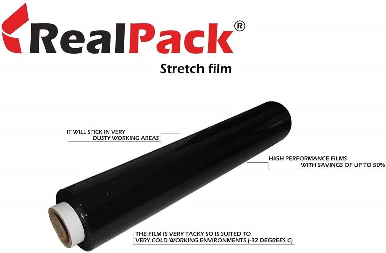 Solide noir palette Shrink Wrap Film Parcel Stretch Packaging 500 mm x 250 m