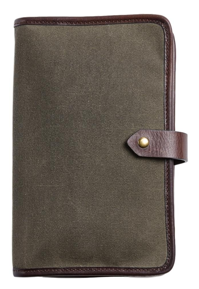 Otter Pass Travel Case in Leather & Canvas - Olive & Espresso