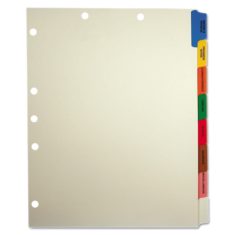 Medical Chart Divider Sets, Side Tab, 9 x 11, Tabbies 54505 Style, 200 Sets/Box
