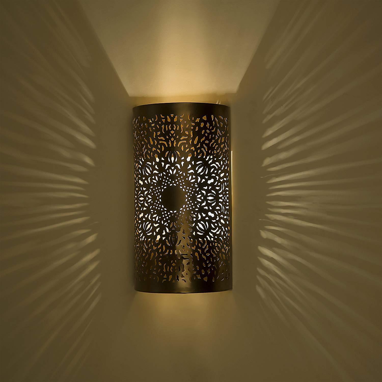 Home Sake Moroccan filgree Wall lamp, Antique Brass Finish |Home Decor