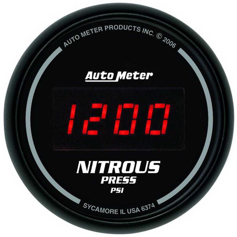 Auto Meter 6374 Sport Comp Digital 2-1/16'' 0-2000 PSI Digital Nitrous Pressure Gauge