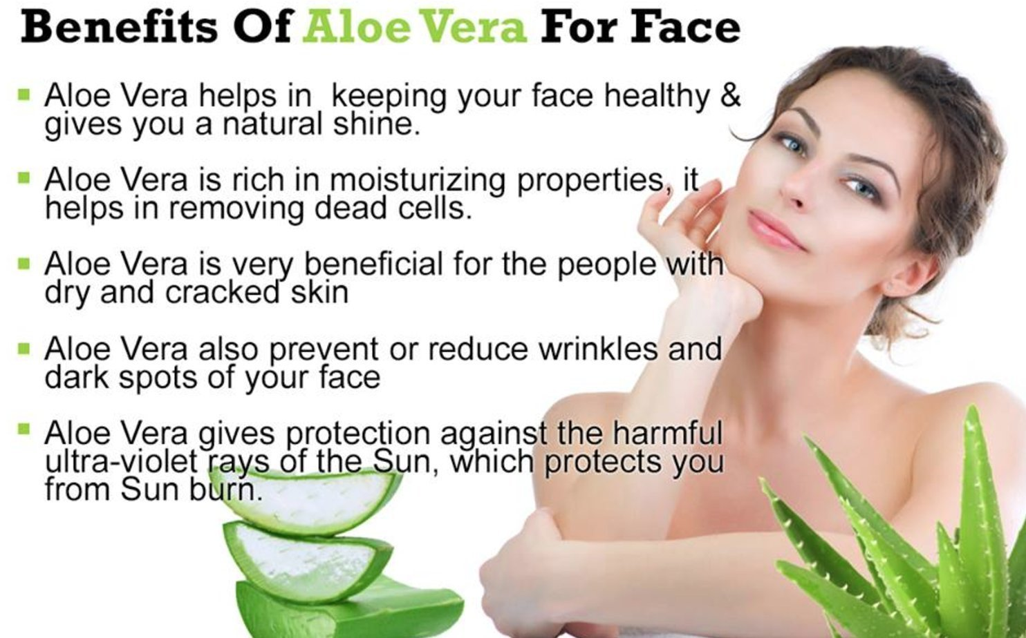 Aloe vera uses for face