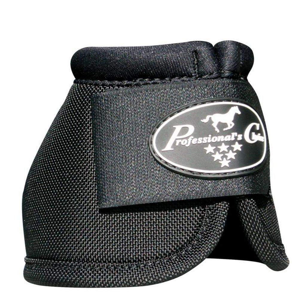 Professionals Choice Equine Ballistic Hoof Overreach Bell Boot, Pair (Large, Black) by Professional's Choice