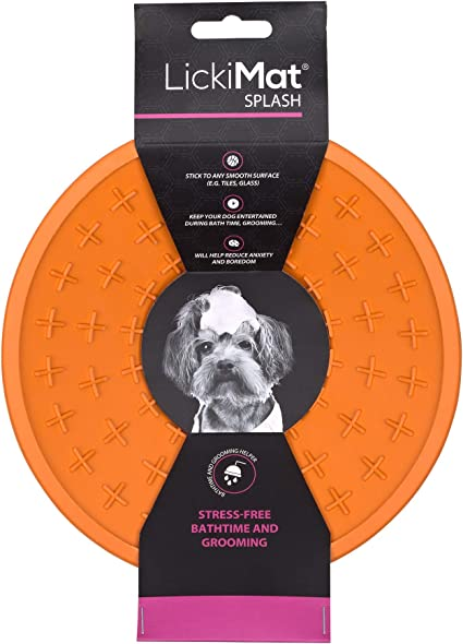 Dog Slow Feeder Bowls for Boredom /& Anxiety Reduction Yogurt Sticks to Smooth Surface; Perfect for Food or Peanut Butter Treats Lickimat Splash Fun Alternative to a Slow Feed Dog Bowl!
