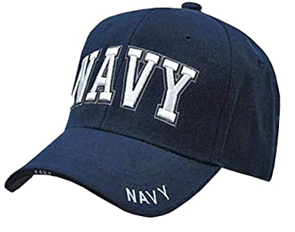 Amazon.com  US NAVY Cap Blue and White Hat United States Naval Hat ... 9a2ae63acd9