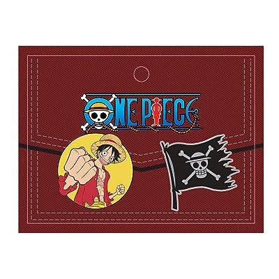 Ripple Junction One Piece Luffy /& Skulls 2-Pack Novelty Crew Socks