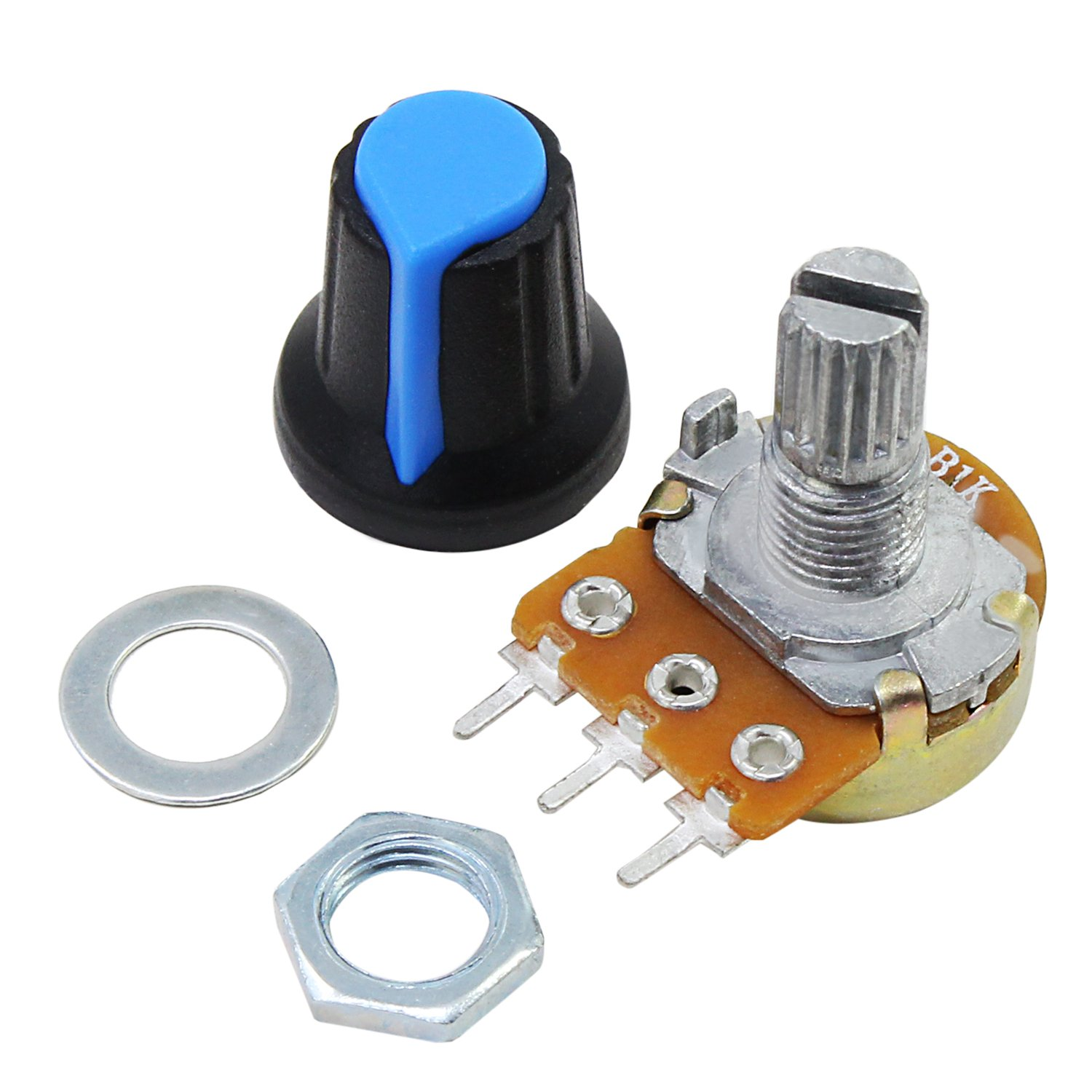 AIKE 1K 2K 5K 10K 20K 50K 100K 500K 1M Linear Potentiometer w/Knob Assortment by AIKE (Image #4)