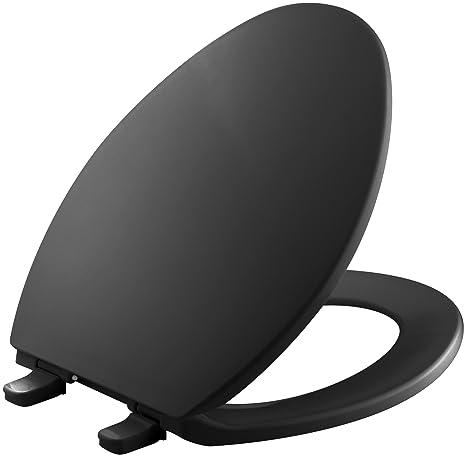 Outstanding Kohler K 4774 7 Brevia With Quick Release Hinges Elongated Toilet Seat Black Black Short Links Chair Design For Home Short Linksinfo