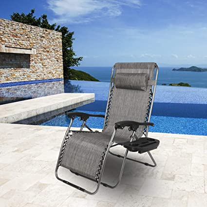 Amazon.com: Zero Gravity Chair,Outdoor Chaise Lounge Chairs ...