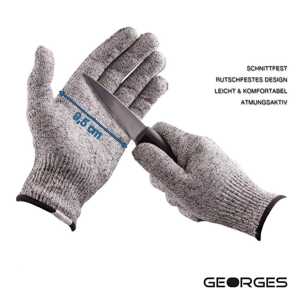 Ligero /Antideslizante Georges De Protecci/ón Guantes/ c/ómodo y Transpirable