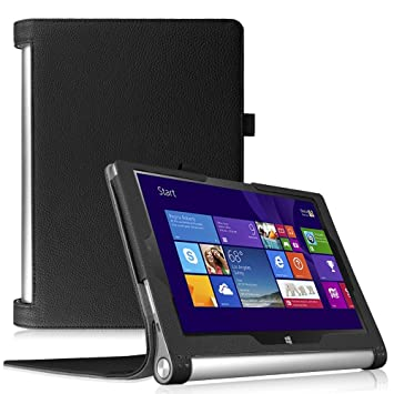 Fintie Folio Funda para Lenovo Yoga Tablet 2 10 - Slim Fit Carcasa de Cuero Sintético con Función de Soporte y Auto- Reposo/Activación para Lenovo ...