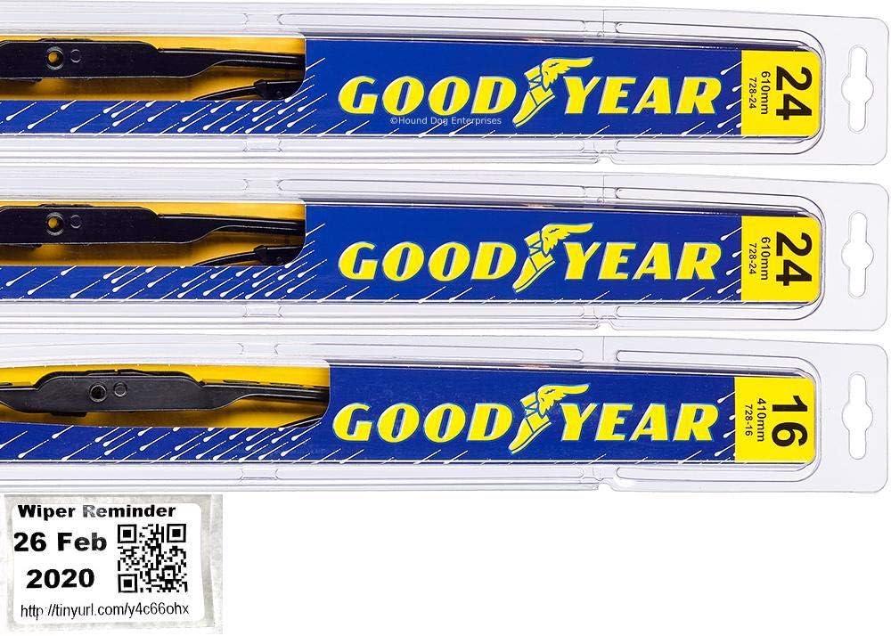 1997-2005 Chevrolet Venture Goodyear Hybrid Style Wiper Blade Set of 2