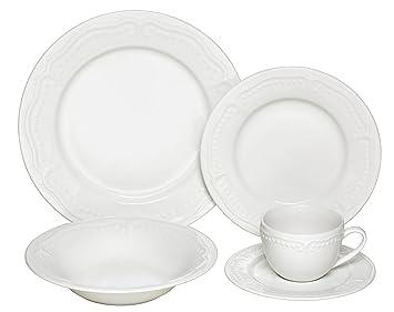 Melange 40-Piece Porcelain Dinnerware Set (Tuscan Villa) | Service for 8 |  sc 1 st  Amazon.com & Amazon.com | Melange 40-Piece Porcelain Dinnerware Set (Tuscan Villa ...