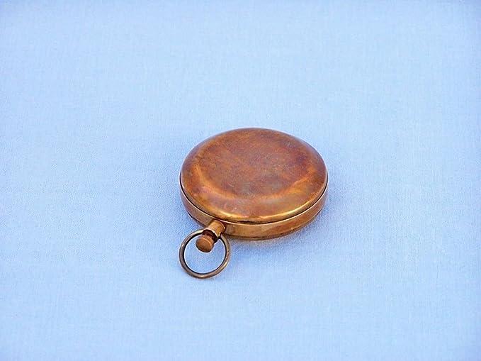 Hampton Nautical 3xglass-101 Antique Copper Scouts Push Button Compass 2 Nautical Home Decoration 2
