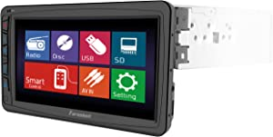 Farenheit TI-712 1-DIN Multimedia Source Unit with Motorized Hang Down 7-Inch LCD Touch Screen
