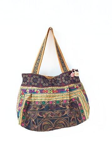 Amazon.com: changnoi Mocha Aves Hmong bolsa Bag Hill Tribe ...