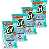 CIF Lingettes Nettoyantes Multi Usages Antibactériennes X 120 - Lot de 4