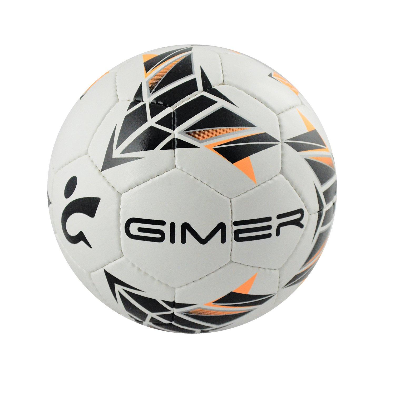GIMER 7/604, balón fútbol Sala Unisex-Adulto, Blanco, 28 x 15 x 13 ...