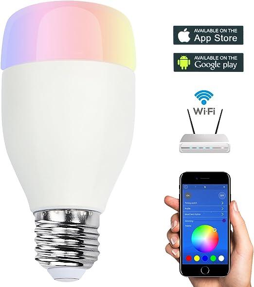 Smart inalámbrico WIFI bombilla colorido Bluetooth luz LED lámpara ...