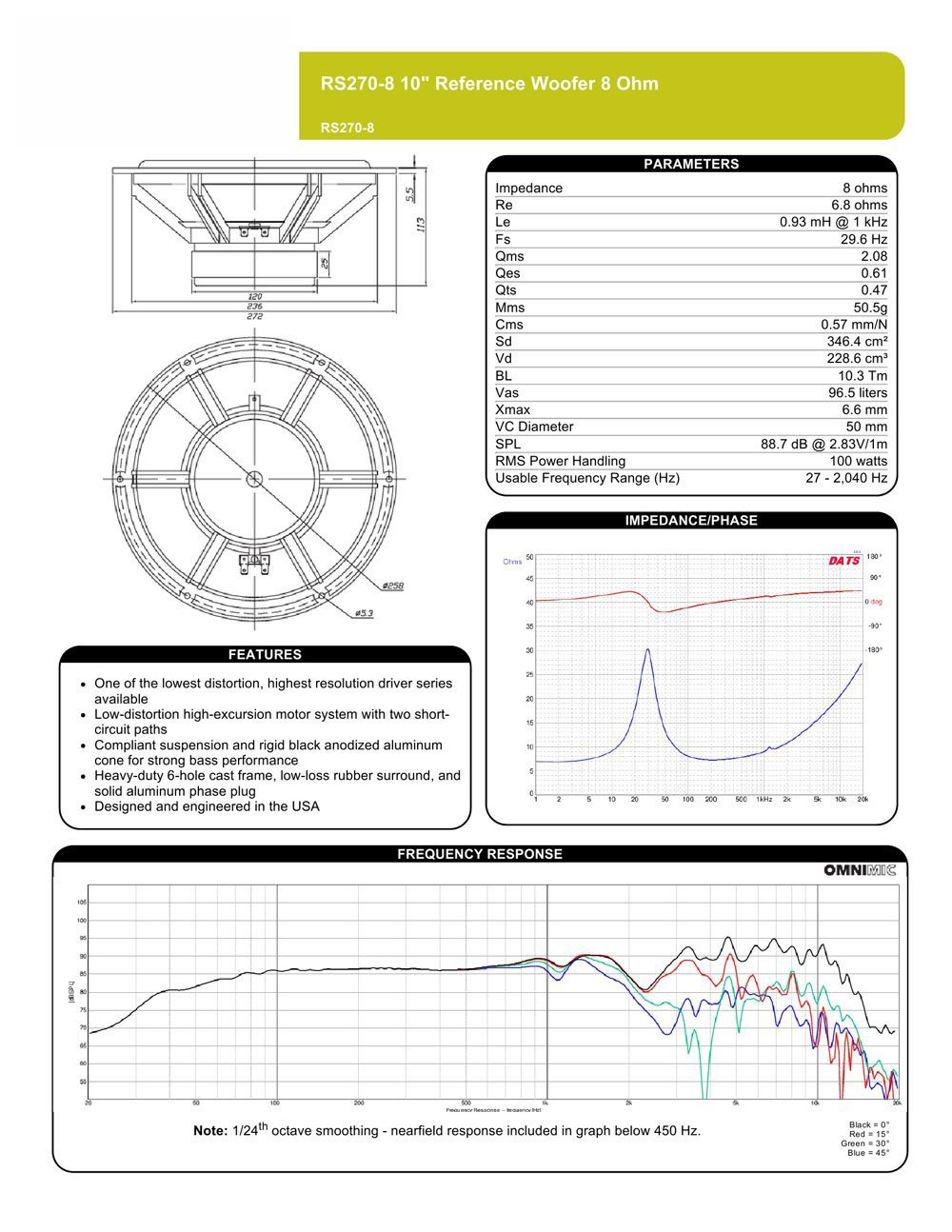 Kicker Ds60 Wiring Diagram Library L5 Solo Bark Amazoncom Dayton Audio Rs270 8 10 Reference Woofer Car Electronics Cute Speaker Images Electrical Circuit New Rh Wommapedia
