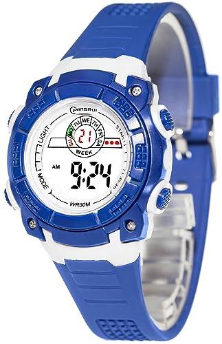 Digital de los niños reloj Mingrui, movimiento de cuarzo, 12/24 horas, fecha, alarma, d92j6 V/1: Amazon.es: Relojes