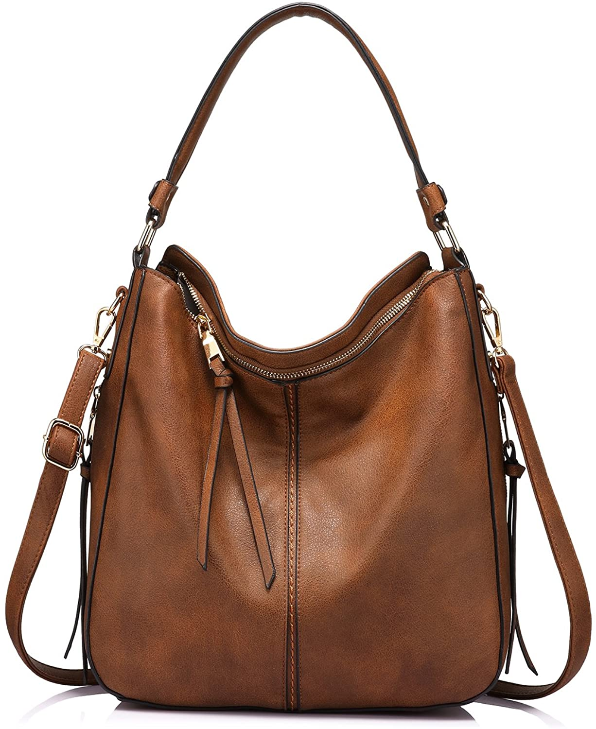 Realer Hobo Bags for Women Faux Leather Purses and Handbags Large Hobo Purse with Tassel
