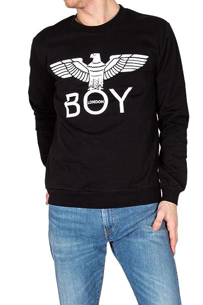 Boy London Hombre BLU6005BLACK Negro Algodon Sudadera: Amazon.es: Ropa y accesorios