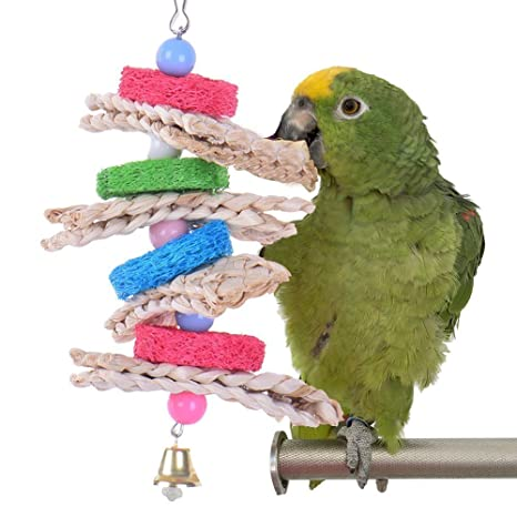 natual Loofah Toy Pet Bird Parrot Macaw africana Greys Budgies ...
