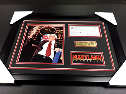 GARY WILLIAMS NCAA CHAMPIONS TERPS AUTOGRAPHED SIGNED CHECK FRAMED 8X10 PHOTO