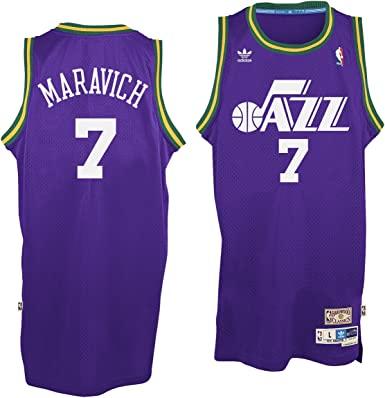 New Orleans Jazz #7 Pete Maravich NBA