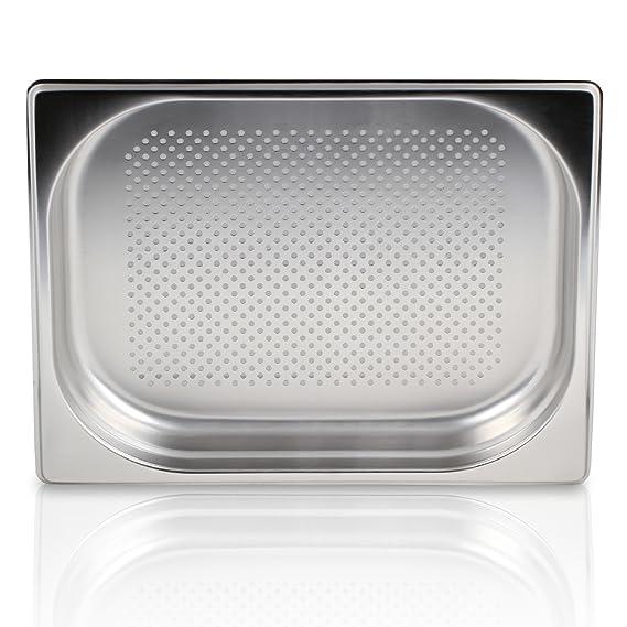 Greyfish - Recipiente perforado para vaporeras Gaggenau, Miele, Siemens (acero inoxidable, apto