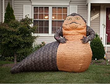 gemmy airblown inflatable star wars jabba the hutt holiday indoor outdoor decoration 6