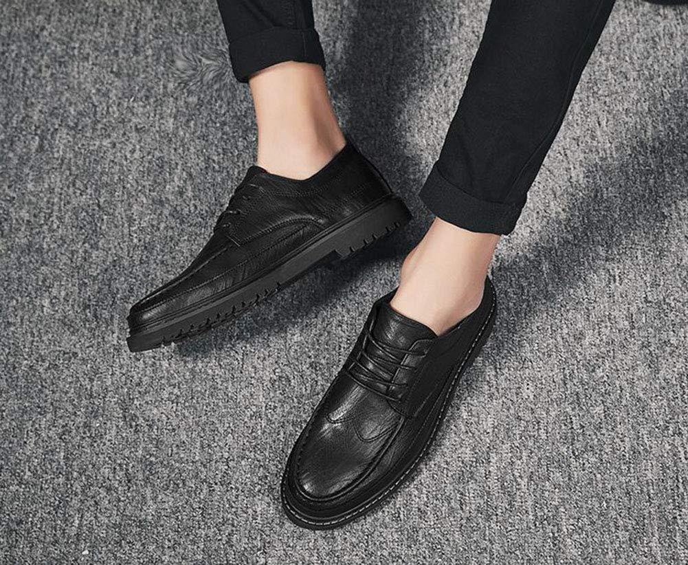 Hy 2019 2019 Hy Neue Herrenschuhe, Breathable Fashion Lederschuhe, Herren-Spitze Formal Business Schuhe, Komfortfahrschuhe,schwarz,38 21f268