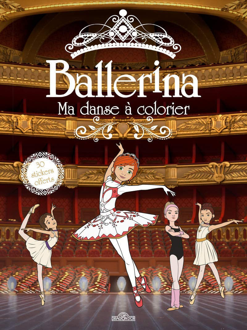 Amazon In Buy Ballerina Ma Danse A Colorier Book Online At Low