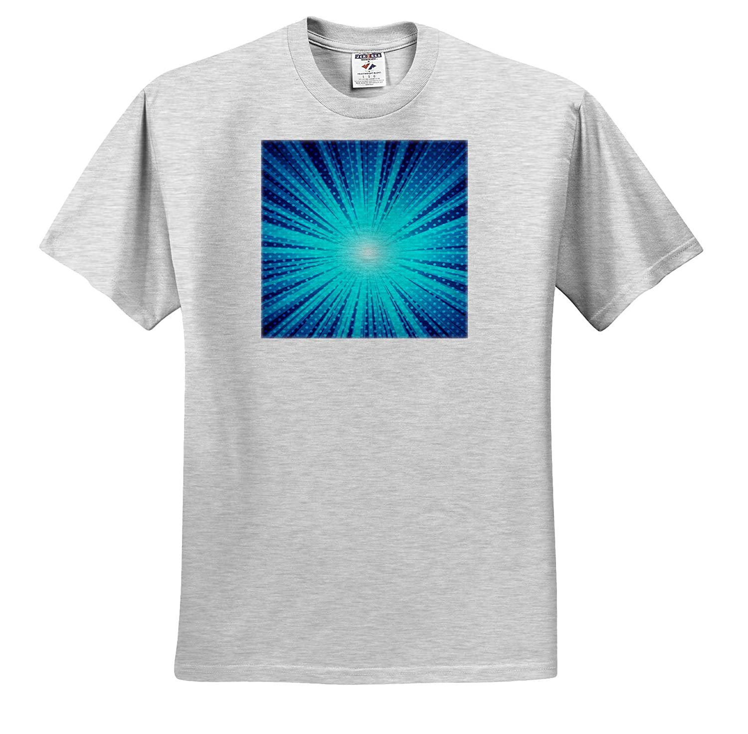 T-Shirts 3dRose Sven Herkenrath Art Spacy Blue and Green Artwork with Many Lights in The Front