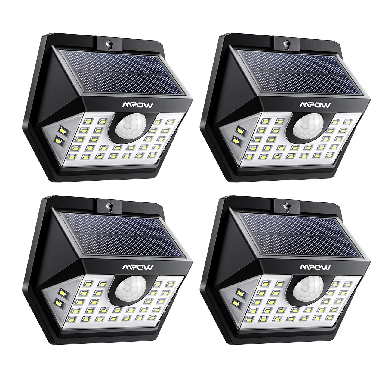 eclairage exterieur pour terrasse 【3 Modes Intelligents】 Lot de 4 Mpow 30 LED Lampes Solaires Extérieur  Etanche IP65, Spot Solaire Détecteur de Mouvement, Eclairage Exterieur pour  Jardin, ...