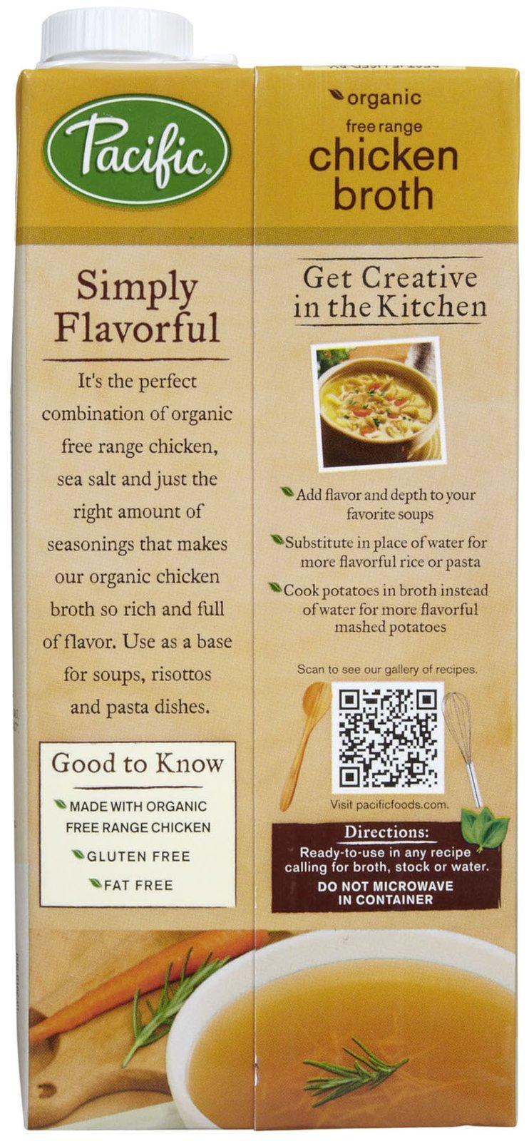 Pacific Foods Organic Chicken Broth-32 Oz-2 Pack by Pacific Foods (Image #2)