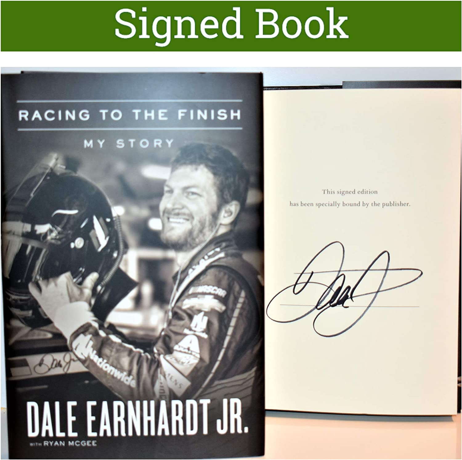 Racing to the Finish AUTOGRAPHED Dale Earnhardt Jr SIGNED BOOK COA 71tDqukbZGLSL1500_